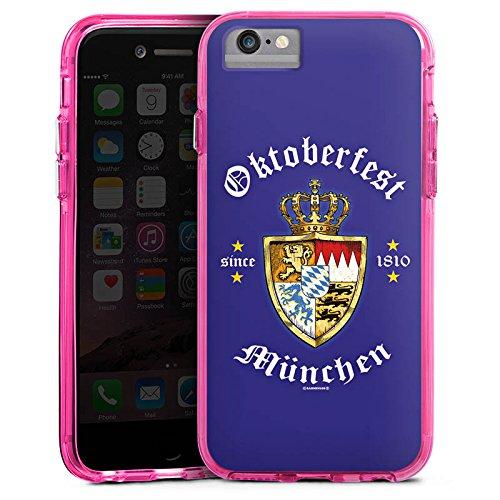 Apple iPhone X Bumper Hülle Bumper Case Glitzer Hülle Oktoberfest Schild Wiesn Bayern Bumper Case transparent pink