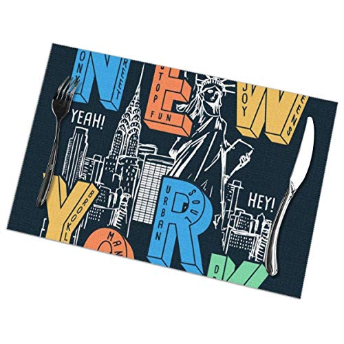 of for Vectors Uses Dining Set Shirt for Table Integrity York Placemats merchant 6 Prints and Other Theme New T JcFKl1