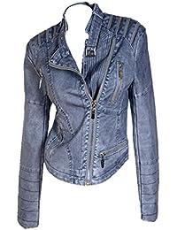 Suchergebnis auf für: Damen Lederjacke Biker Style