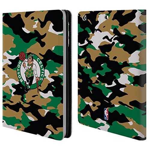 Head Case Designs Offizielle NBA Camouflage 2018/19 Boston Celtics Brieftasche Handyhülle aus Leder für iPad Mini 1 / Mini 2 / Mini 3 Boston Celtics Mini