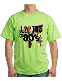 CafePress - I Love The 80's Green T-Shirt - 100% Cotton T-Shirt
