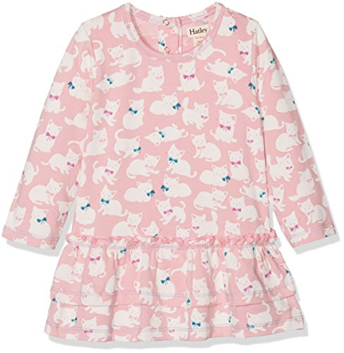 Hatley Baby-Mädchen Kleid Mini Layered Dress, Pink (Sophisticated Kittens), 3-6 Monate (Mini Layered)