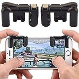 #4: Reiz PUBG Fortnite Mobile Controller - Mobile Game Controller, Cellphone Game Trigger, Battle Royale L1R1 Sensitive Shoot (Black or Transparent)