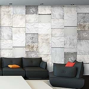 murando puro tapete realistische steinoptik vlies material tapete ohne rapport und versatz. Black Bedroom Furniture Sets. Home Design Ideas