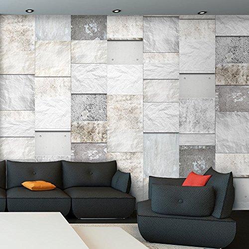 PURO TAPETE - Realistische Steinoptik Tapete ohne Rapport und Versatz ! Kein sich wiederholendes Muster ! 10m VLIES Tapetenrolle ! Steine f-A-0215-j-a
