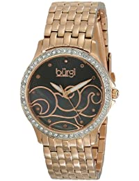 Burgi analógico pantalla Mujer Rose Gold Reloj de cuarzo suizo