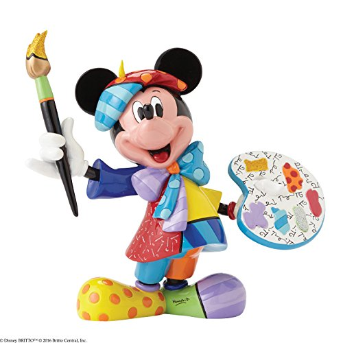 Disney BRITTO Collection 4055227 Painter Mickey Mouse, Stein, mehrfarbig, 2 x 9 x 23 cm (Arch Mickey)