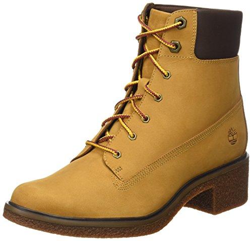 Timberland Damen Brinda 6 Inch Lace Up Chukka Boots, Braun (Wheat), 38.5 EU (Boot Winter Lace Up)