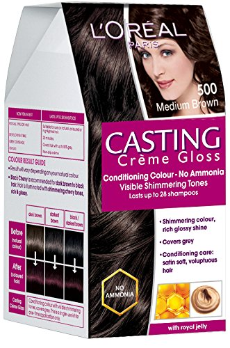 L'Oreal Paris Casting Creme Gloss, Medium Brown 500, 87.5g+72ml