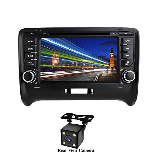XISEDO Android 7.1 Autoradio 2 Din Voiture Radio à Écran Tactile 7' Car Radio RAM 2G Système de Navigation GPS avec Lecteur de DVD pour Audi TT (2006-2015) (avec Caméra de Recul)