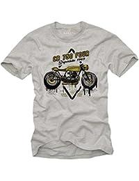 Tee Shirt Motard Homme - CB750 Cafe Racer - Moto T-Shirt
