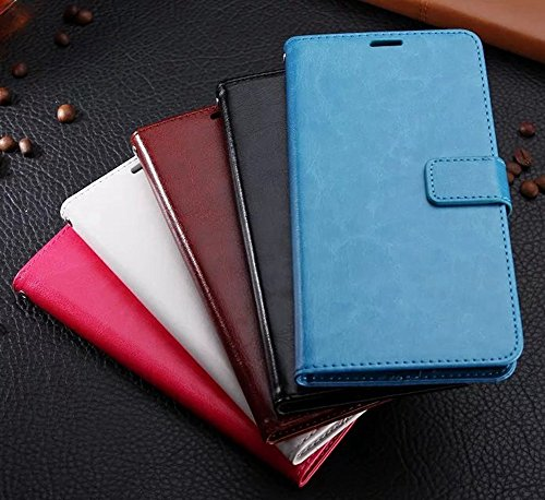 Retro Folio Stand Case Retro Classic PU Leder Brieftasche Case mit Card Slots für Huawei Changxiang Genießen Sie 7 Plus ( Color : Rose ) Brown