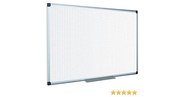 Bi-Office Maya quadrill/ée effa/çable /à sec avec cadre en aluminium Double Face Tableau blanc 180/x 120/cm 60x45cm