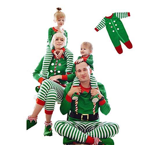 (DIVAND Familien-Weihnachtspyjamas-Sets, Gemacht Von Elfen Elf Squad Pjs Passende Familien-Weihnachtself-Pyjamas Herren Damen Kind Neugeboren,L(Mother))