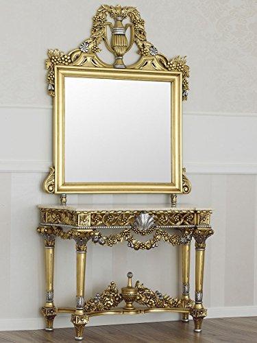 Simone Guarracino Consolle con specchio stile Barocco foglia oro ...