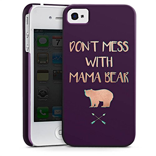Apple iPhone 5c Silikon Hülle Case Schutzhülle Mama Bär Muttertag Mutter Premium Case glänzend