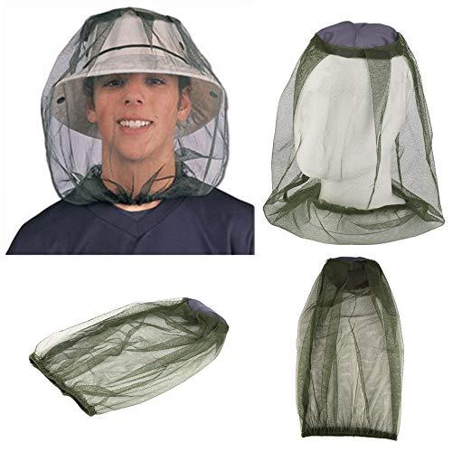 Edhua Red de Cabeza de Mosquito, Cubierta de Cabeza de Malla Facial Sombrero de Cubo antimosquitos Sombrero de Mosquito Proteger de mosquitera Mosquito Mosquito y Otras Moscas