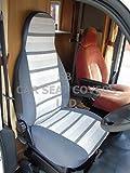 S'adapter à une camping-car, housses de siège, mh-158George Gris à rayures