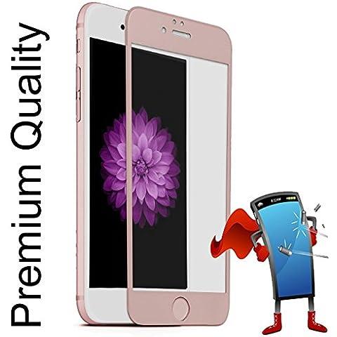 Protector de vidrio templado de Cristal, pantalla completa, 3D, para Apple iPhone 6Plus & iPhone 6S Plus Rosa/Oro