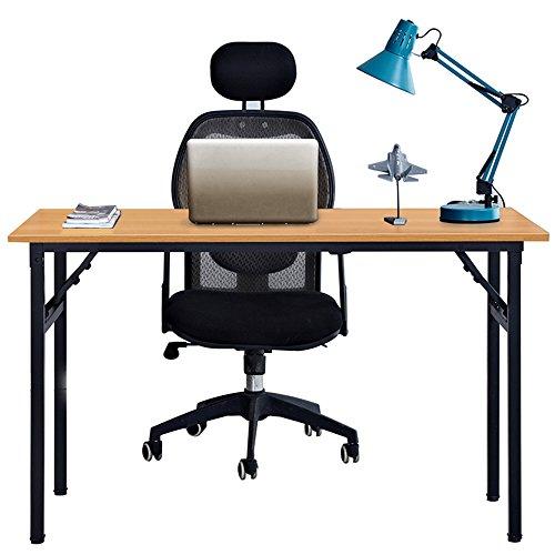DlandHome Escritorios Mesa Plegable de Ordenador Escritorio de Oficina Mesa de Estudio...