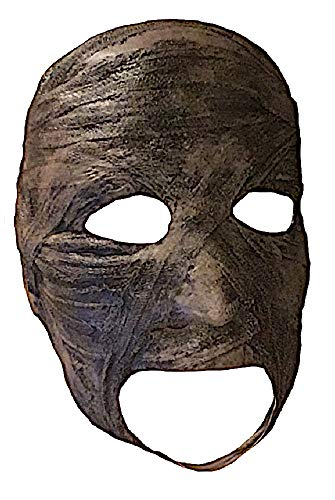(shoperama Latex-Maske Verbrannte Mumie Untoter Zombie Mumienmaske Halloween Horror)