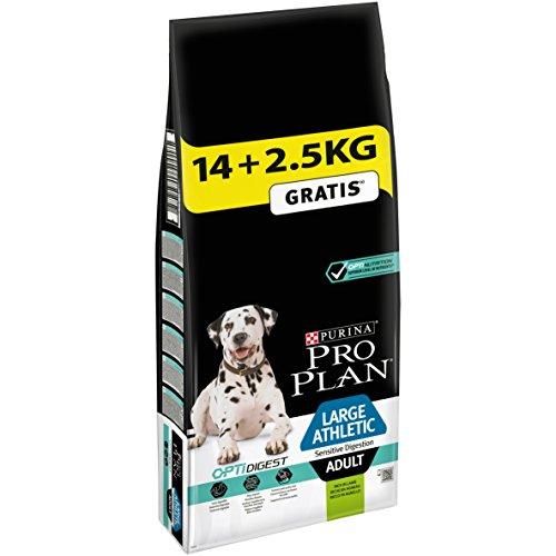 Pro Plan Dog Large Athletic Adult, Sensitive Digestion Reich an Lamm, Trockenfutter Beutel, 1er Pack (1 x 16,5 kg)