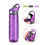 mountop Water Bottle with Straw Leak Proof Movable Buckle Button Start Direct-drinking Bottle