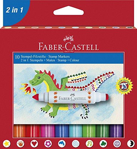 Faber-Castell – Estuche con rotuladores 2 en 1