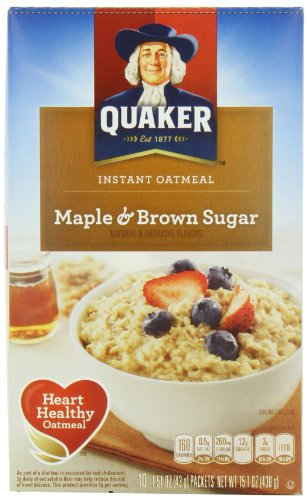 Quaker Instant Oatmeal - Maple & Brown Sugar (10x43g)
