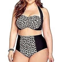 Niseng Mujer Bikinis Talla Grande Tankini Verano Modelo Del Leopardo