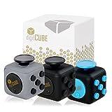 Premium Fidget Cube mit 6 verschiedenen Funktionen in Geschenkverpackung - Original digitCUBE, unser Stresswürfel gegen Nervosität - Unterhaltsames Gadget in 4cmx4cm Originalgröße (Schiefergrau)
