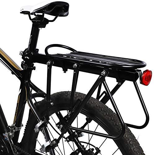 West Biking Fahrradträger, tragbar, tragbar bis 310 kg Fassungsvermögen, universell verstellbar, für Gepäck, Unisex, Quick-Release -