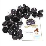 32 x Filzgleiter mit Schraube | Ø 24 mm | Braun | rund | Möbelgleiter zum Schrauben in Premium-Qualität von Adsamm®