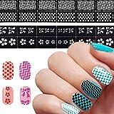 feiXIANG Femmes manucure ongle outil magique tableau autocollant 3D autocollant ongle Stickers Manucure Nail Art Belle Décoration ongle Accessoires de Mode