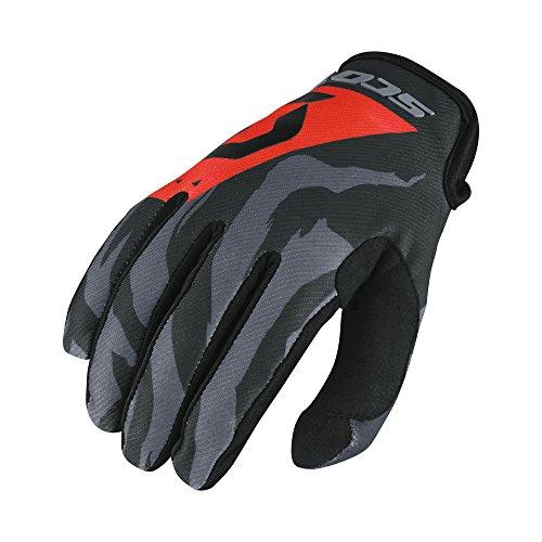 Scott 350 Race Kinder MX Motocross / DH Fahrrad Handschuhe grau/schwarz/orange 2017