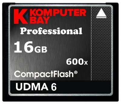 Komputerbay 16gb professional compact flash card cf 600x 90mb/s extreme speed udma 6 raw 16 gb by komputerbay