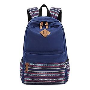 Generic picture show : Korean Canvas Printing Backpack Women School Bags for Teenage Girls Cute Bookbags Vintage Laptop Backpacks Outdoor Backpack New