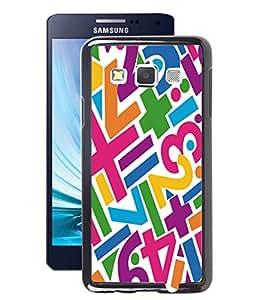 Fuson 2D Printed Number Pattern Designer Back Case Cover for Samsung Galaxy A3 - D1009