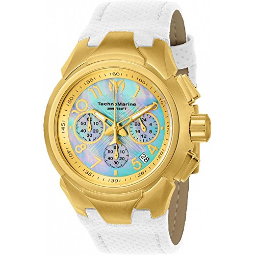 technomarine-womens-sea-dream-42mm-white-leather-band-steel-case-quartz-mop-dial-analog-watch-tm-715