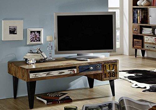 Meuble TV - Bois massif de palissandre laqué - Imprimé Multicolore - Style Urbain - LIVERPOOL #30
