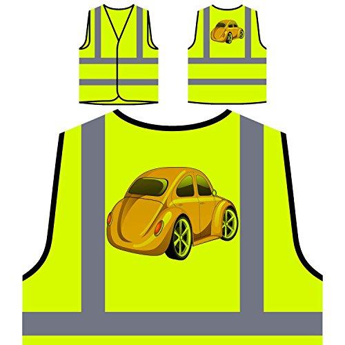 Vw volkswagen käfer lustige weinlese kunststadt Personalisierte High Visibility Gelbe Sicherheitsjacke Weste yy42v