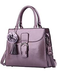 d3e093b519ff3 (G-AVERIL) Damen Frauen Weinlese Leder Handtaschen Schulter Beuteltote  Schultaschen