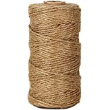 Tenn Well Ficelle Corde en Jute, Ficelle en Jute Naturel épaisse 2ply pourl'artisanat Floristique, Cadeaux, Arts et Artisanat Bricolage, Décoration, Jardinage et Recyclage (Marron, 90mètres)