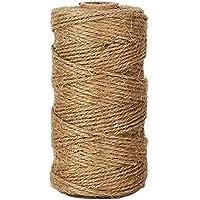 Cuerda de yute de Weimay, 100metros, cordel para artes, oficios industriales, regalo, cordel de yute de grosor natural, cuerda de yute para floristería, regalos, manualidades, decoración, empaquetar, artes, jardín y reciclaje