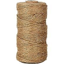 antiácaros, 1rollo de cordel de yute natural Arts Crafts–Cuerda para Florista, Floral, Flores, Jardín, Plantas, Manualidades