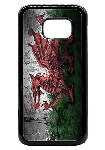 Wales Welsh Grunge Flag Rubber Bumper Hard Back Phone Case Cover for (Samsung Galaxy S7) (Flag 6 X 4)
