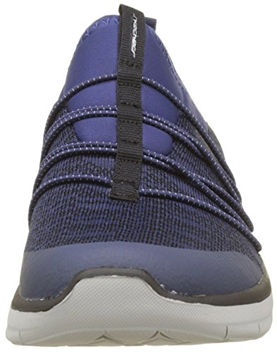 Skechers Synergy 2.0-Simply Chic, Sneaker Infilare Donna Blu (Navy)