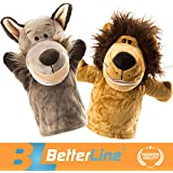 Better Line Animal Hand Puppets Set Of 2 Premium Quality