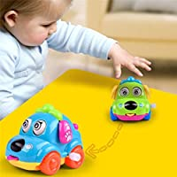 Spritumn Wind Up Toy,Assorted Clockwork Funny Toy Cartoon Puppy Tongue Clockwork Car Educational Toys Party Favors Toy Great Gift For Boys Girls Kids Toddlers