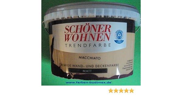2,5 L Schöner Wohnen Trendfarbe, Wandfarbe, Macchiato Matt (3,99EUR/L):  Amazon.de: Baumarkt